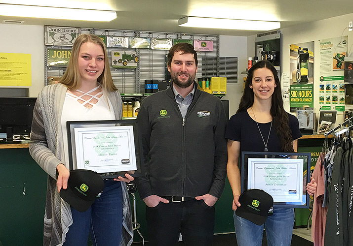 Olds College Students Awarded Cervus John Deere 4-H Scholarships